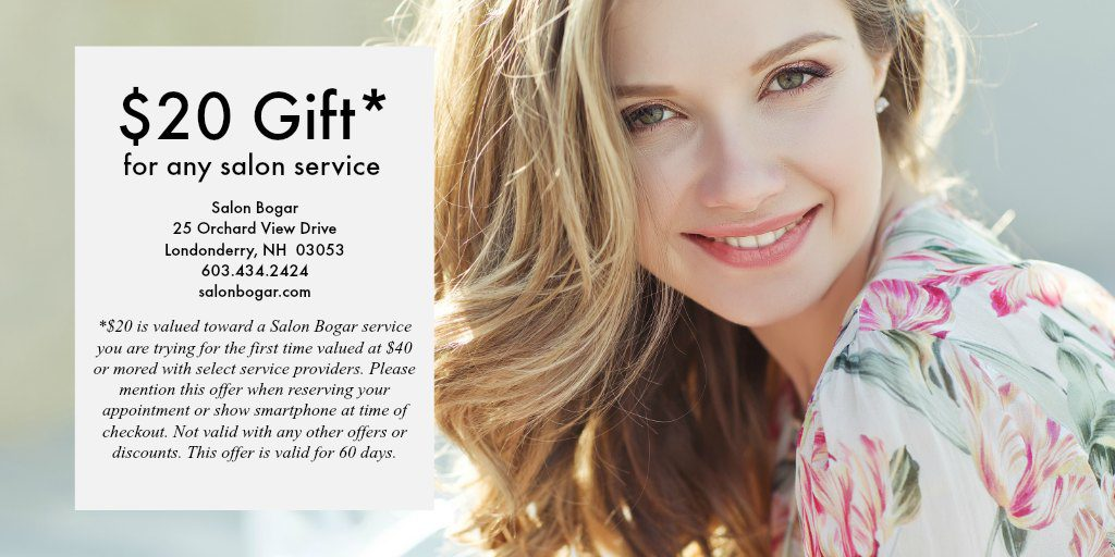 Salon Bogar $20 Off new service